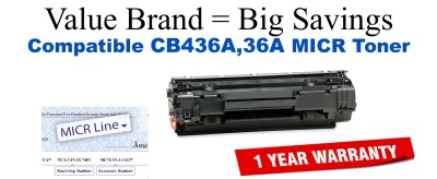 OEM Equivalent cb436a Micr toner cartridge